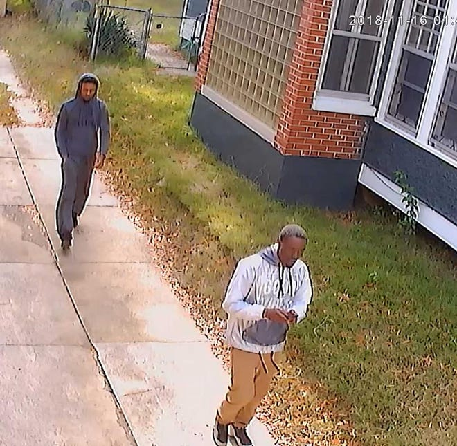 Suspects in the taking of a pit bull from a yard in North Memphis on Friday.