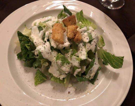Caesar salad from Ristorante Limoncello, North Naples.