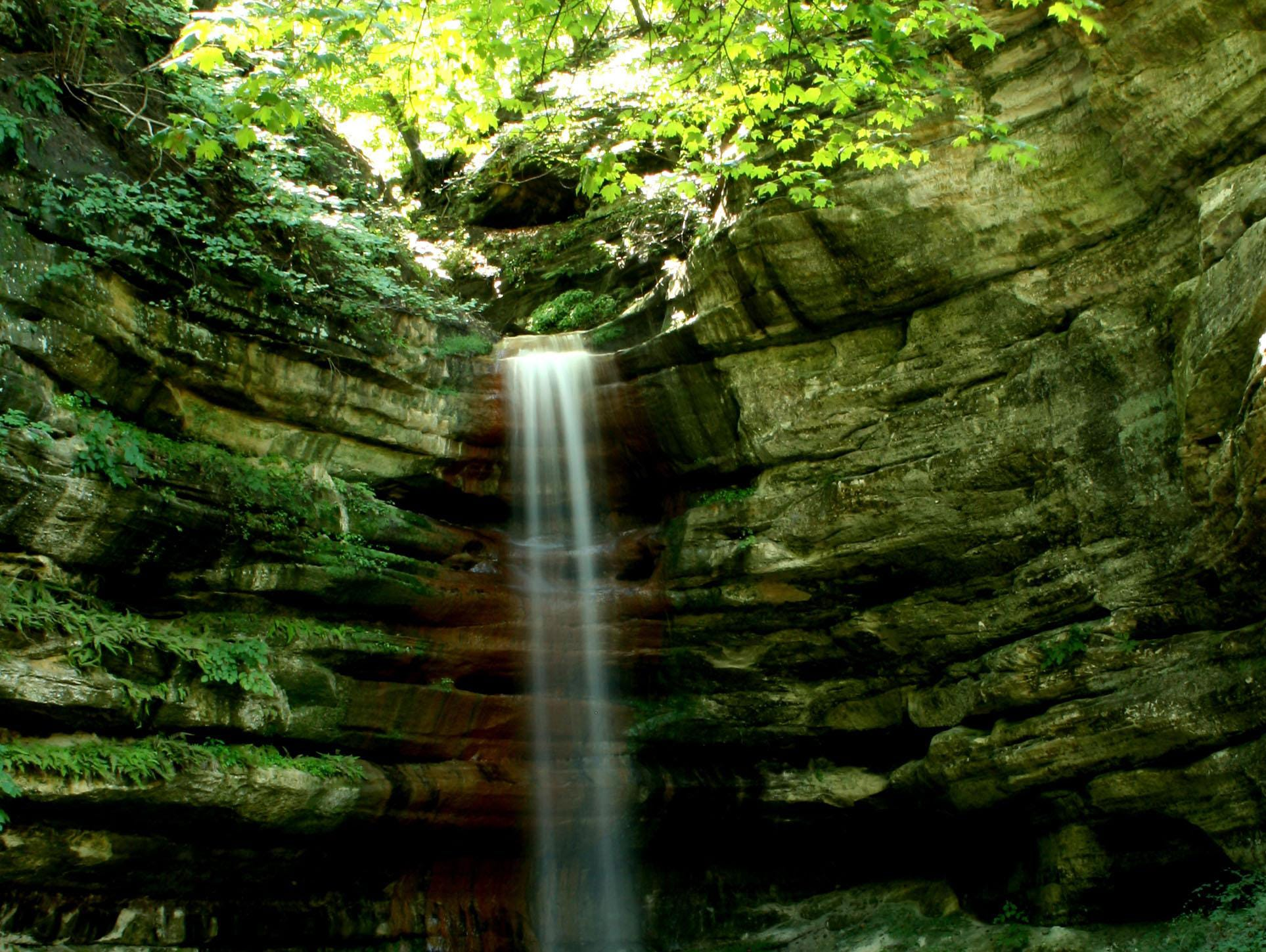 Starved Rock State Park is home to 14 waterfalls in 18 canyons.