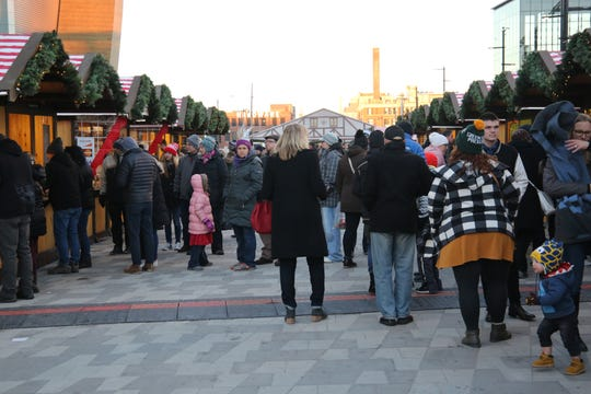 The plaza outside Fiserv Forum played host to its first Christkindlmarket in 2018.