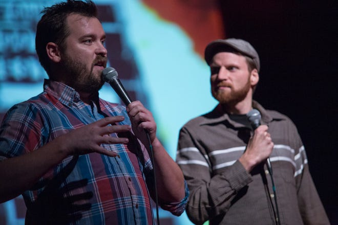 Joe Pickett (left) and Nick Prueher are back to host another edition of the Found Footage Festival, at the Back Room at Colectivo Nov. 24.