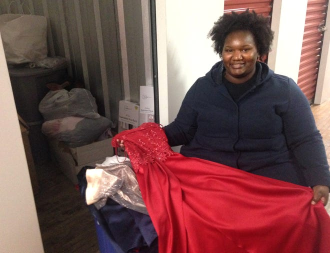 Jameelah Love is collecting donated prom dresses, suits, shoes and jewelry for youths in foster care. A former foster child,she calls the effort Fostering Memories. For now, the items are in storage, but Love hopes to open a storefront where students could try on clothing.