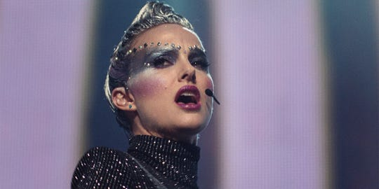 "Natalie Portman plays a music star at a crossroads in ""Vox Lux."""