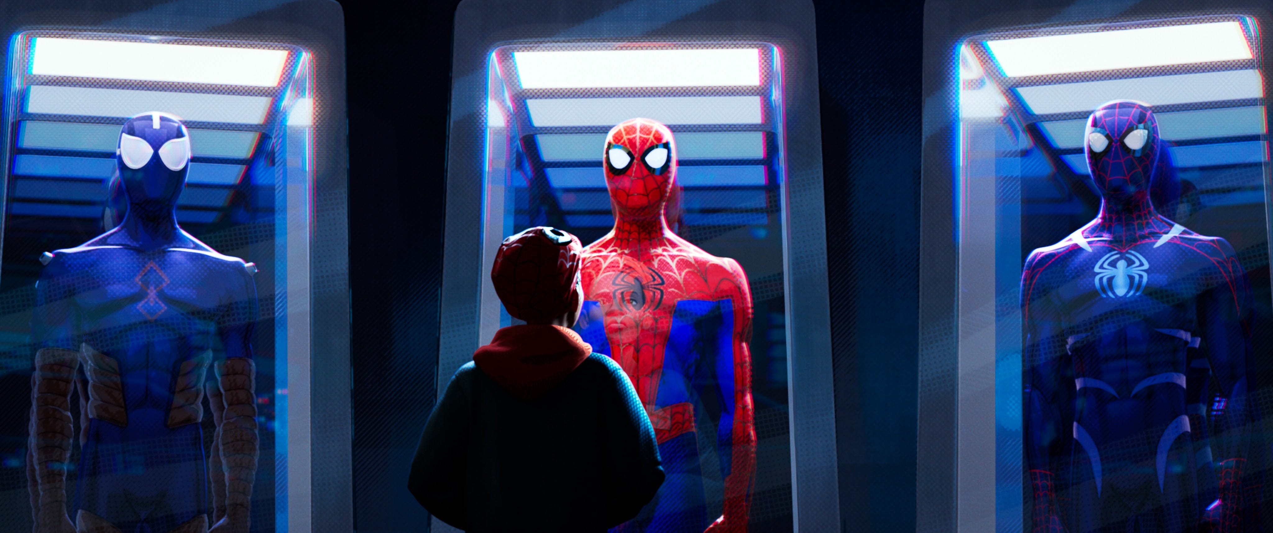 "Miles Morales (voiced by Shameik Moore) discovers there's more than one universe, and more than one Spider-Man, in ""Spider-Man: Into the Spider-Verse."""