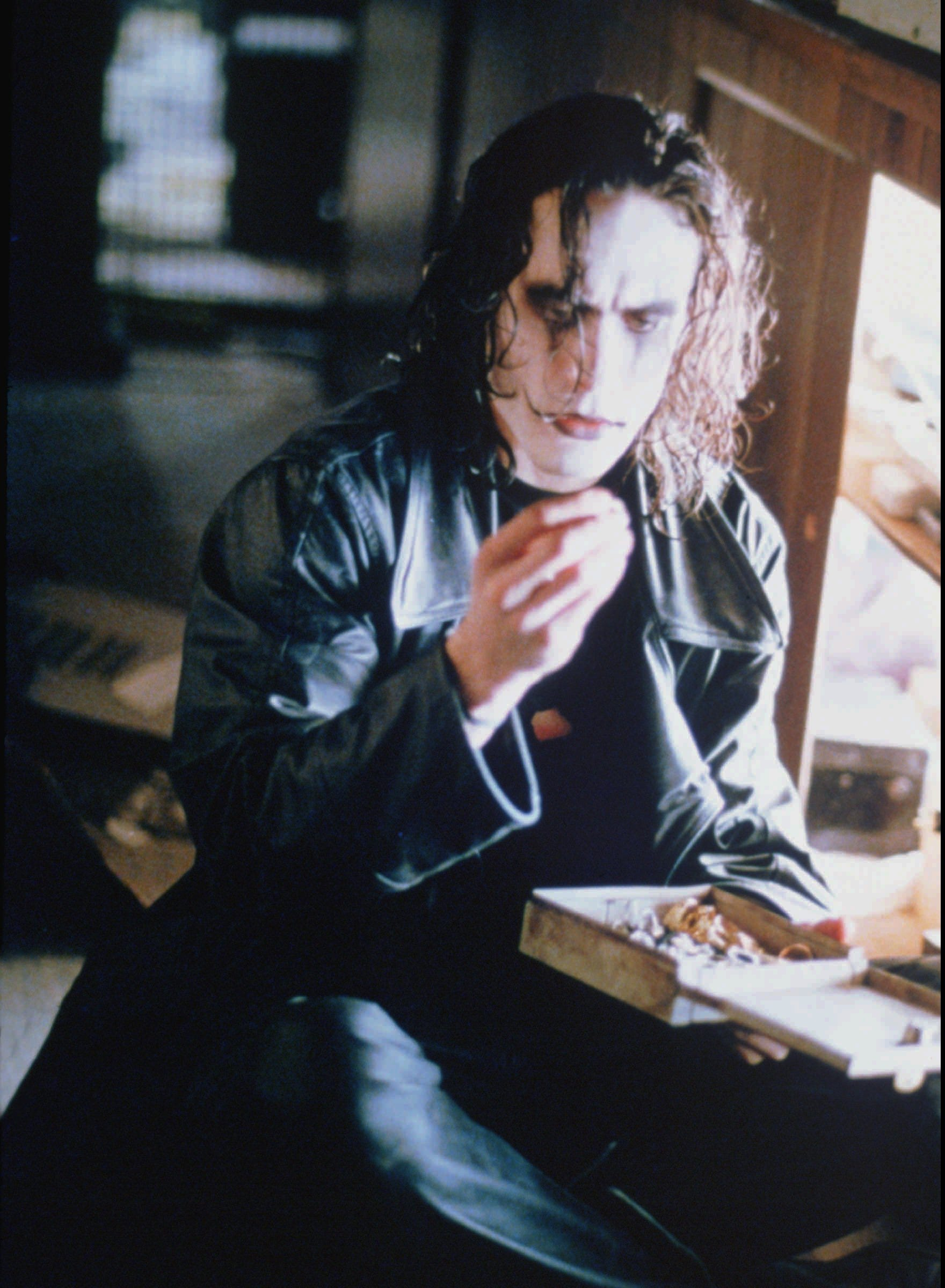 "Brandon Lee stars in ""The Crow."""