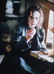 "Brandon Lee stars in ""The Crow."""