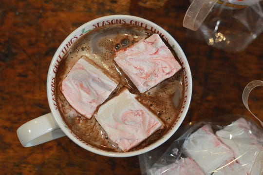 The day after the party, your hosts can enjoy a cup of hot chocolate made from your hot cocoa mix, with your peppermint marshmallows floating on top.