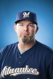 Chris Hook was named Milwaukee Brewers pitching coach Monday.