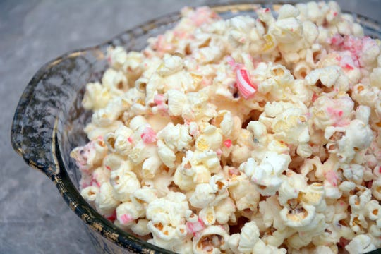 Candy Cane Popcorn is an addictive sweet treat.