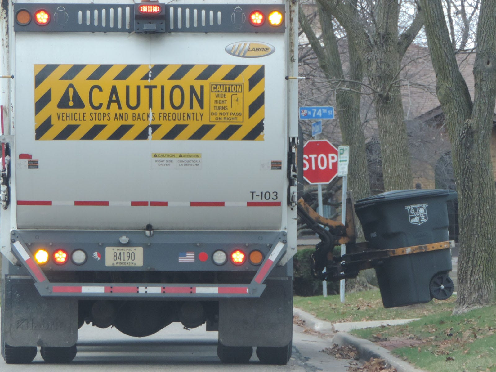 The city of Wauwatosa uses its own employees and vehicles to collect residential garbage and recycling.