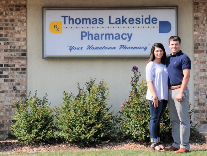 Amber and Layne Hawkins are the new owners of Lakeside Pharmacy in Bull Shoals. Layne Hawkins has a Doctorate of Pharmacy degree and experience as an independent pharmacist. For the past 30 years, Steve Thomas has owned and operated Thomas Lakeside Pharmacy, but recently retired. Lakeside Pharmacy offers personal service and free delivery to Flippin, Bull Shoals, Lakeview and Midway. They take great pride in offering the community high-quality health care services and are dedicated to helping their clients manage their health in a way that is affordable and convenient.