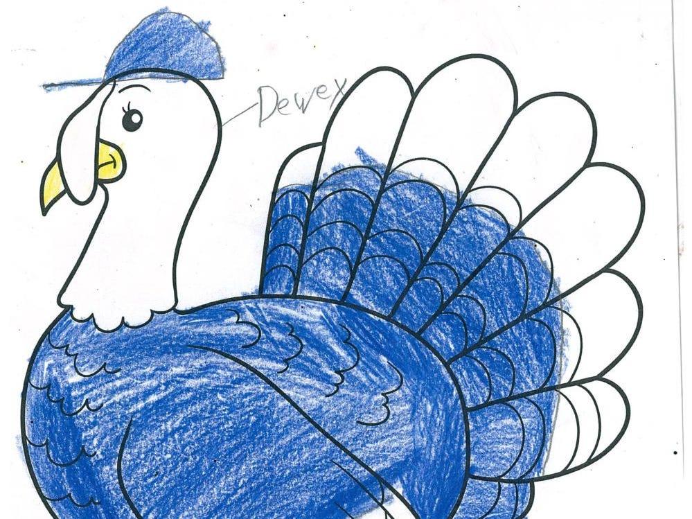 Dewey by Sean Delaney, age 10. Dress The Turkey Contest 2018.