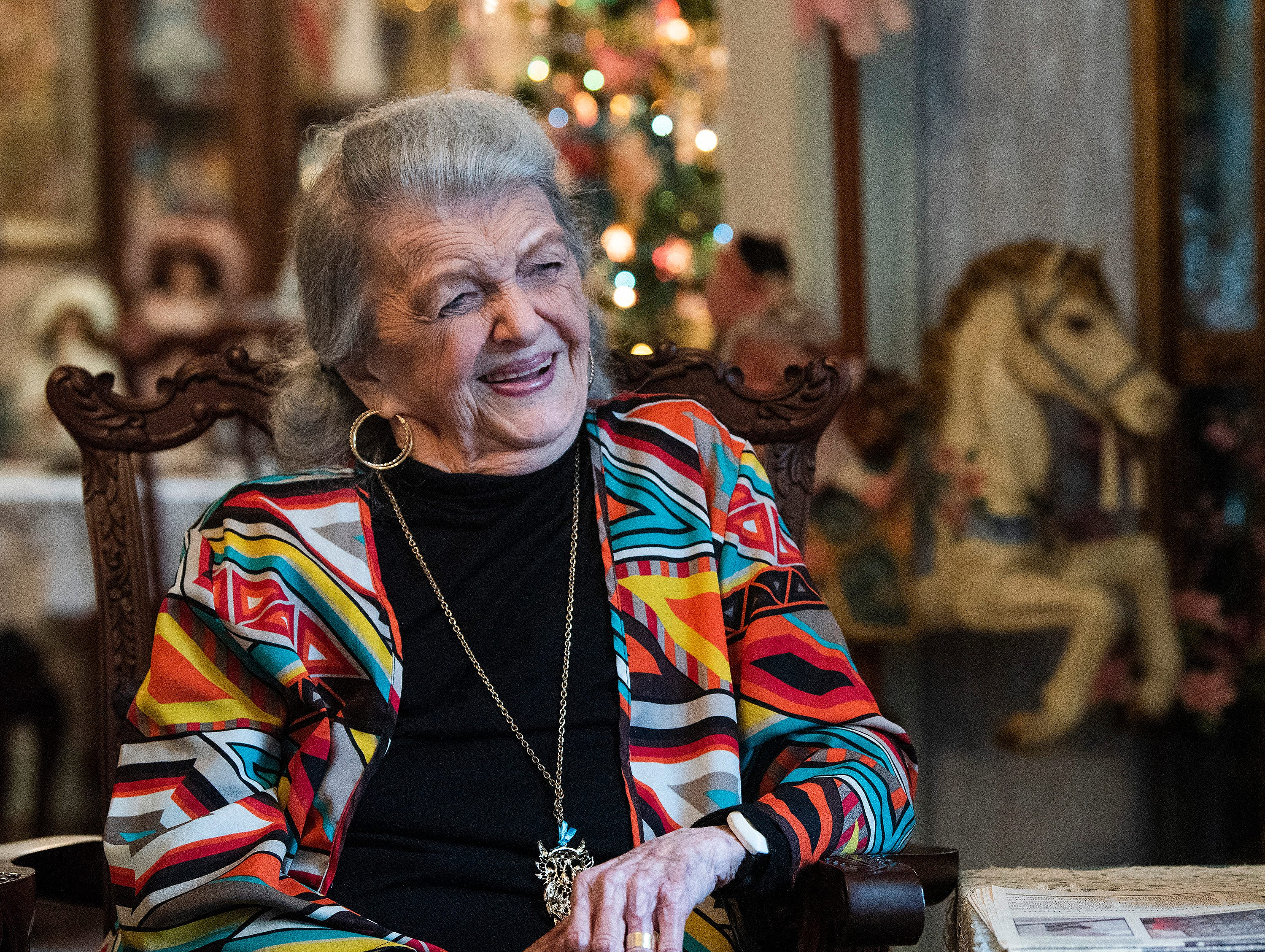 Eloise Downey talks about her doll collection at her home in Montgomery, Ala., on Thursday November 15, 2018.