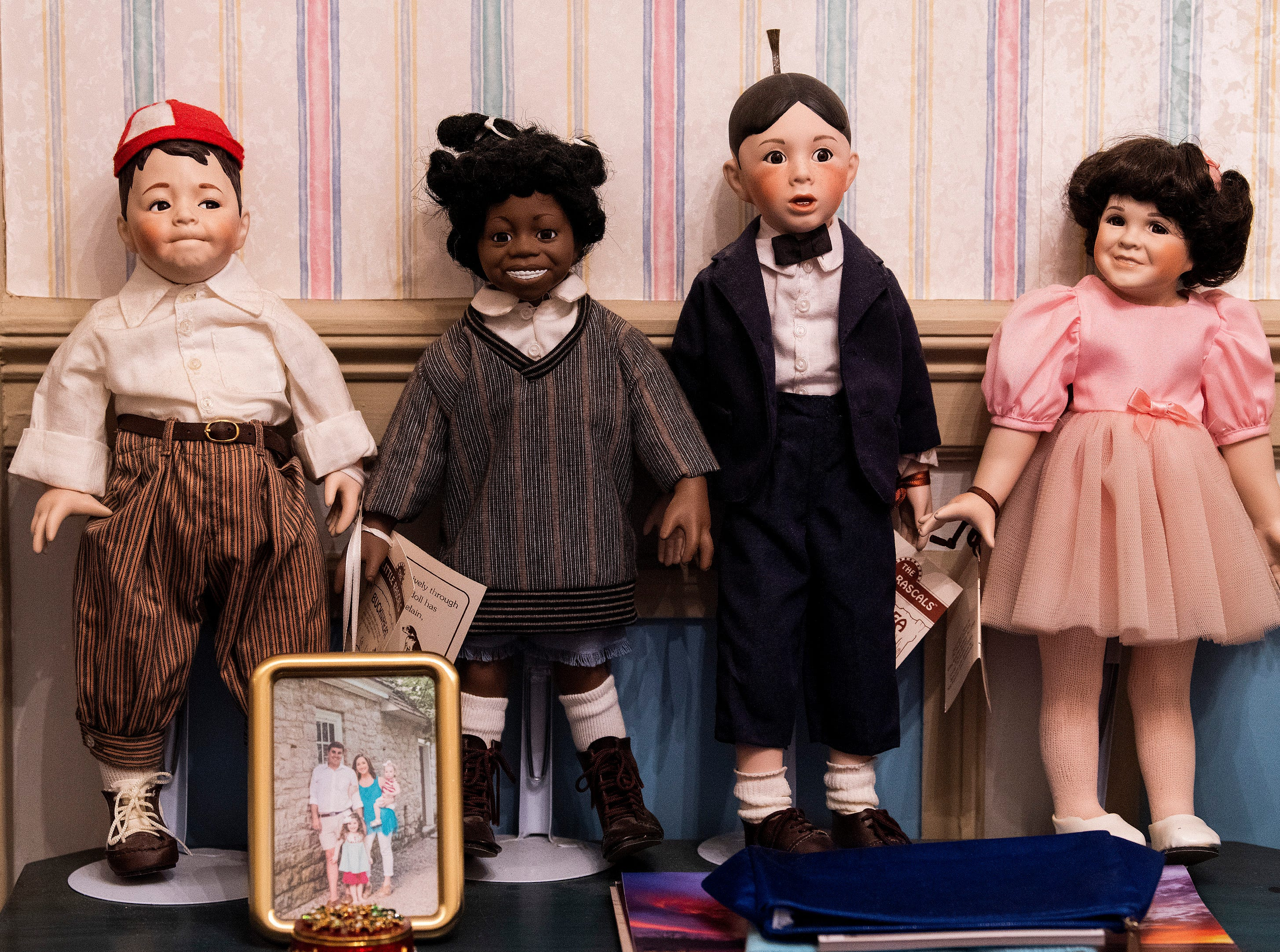 The doll collection of Eloise Downey is shown at her home in Montgomery, Ala., on Thursday November 15, 2018.