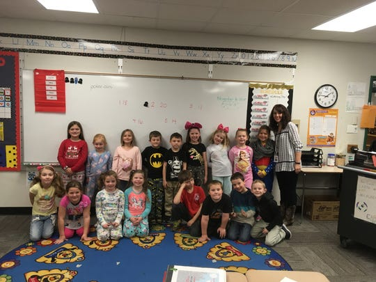 Mrs. Kauffman's first-grade class at Selma Elementary School