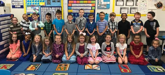Mrs. Garrett's kindergarten class at Selma Elementary School