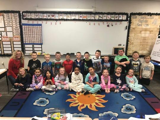 Selma Elementary School teacher Debby Pittenger and her first-grade class