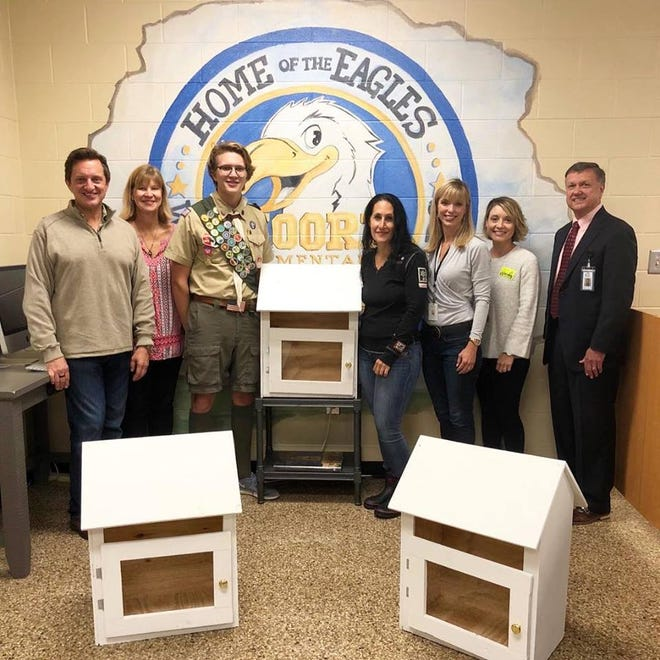 Franklin Boy Scout Colin Thompson built nine collection bins for the NOOK nonprofit, where the public can donate clothes and hygiene products for children in need. The bins will be placed at all eight Franklin Special School District buildings and the Williamson County Library main branch.
