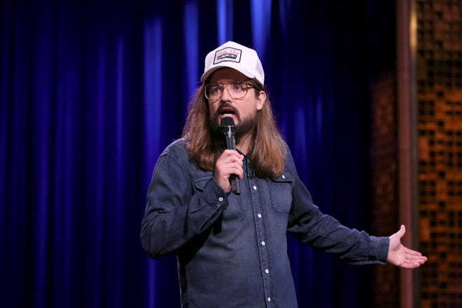 """Nashville comedian Dusty Slay performs on """"The Tonight Show Starring Jimmy Fallon"""" on Aug. 15."""