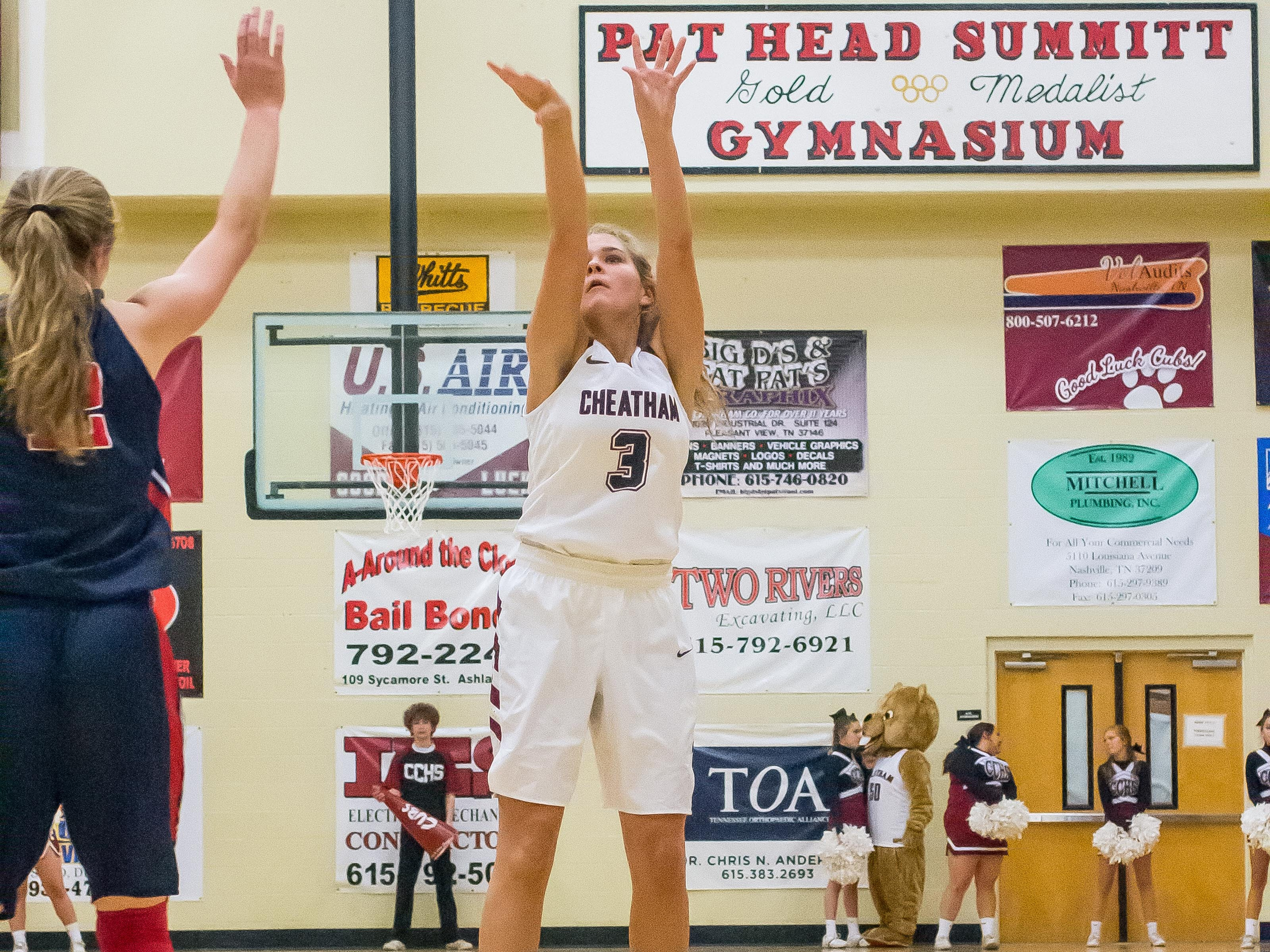 Cheatham County's Emmy Nelson scored 21 points against Creek Wood.