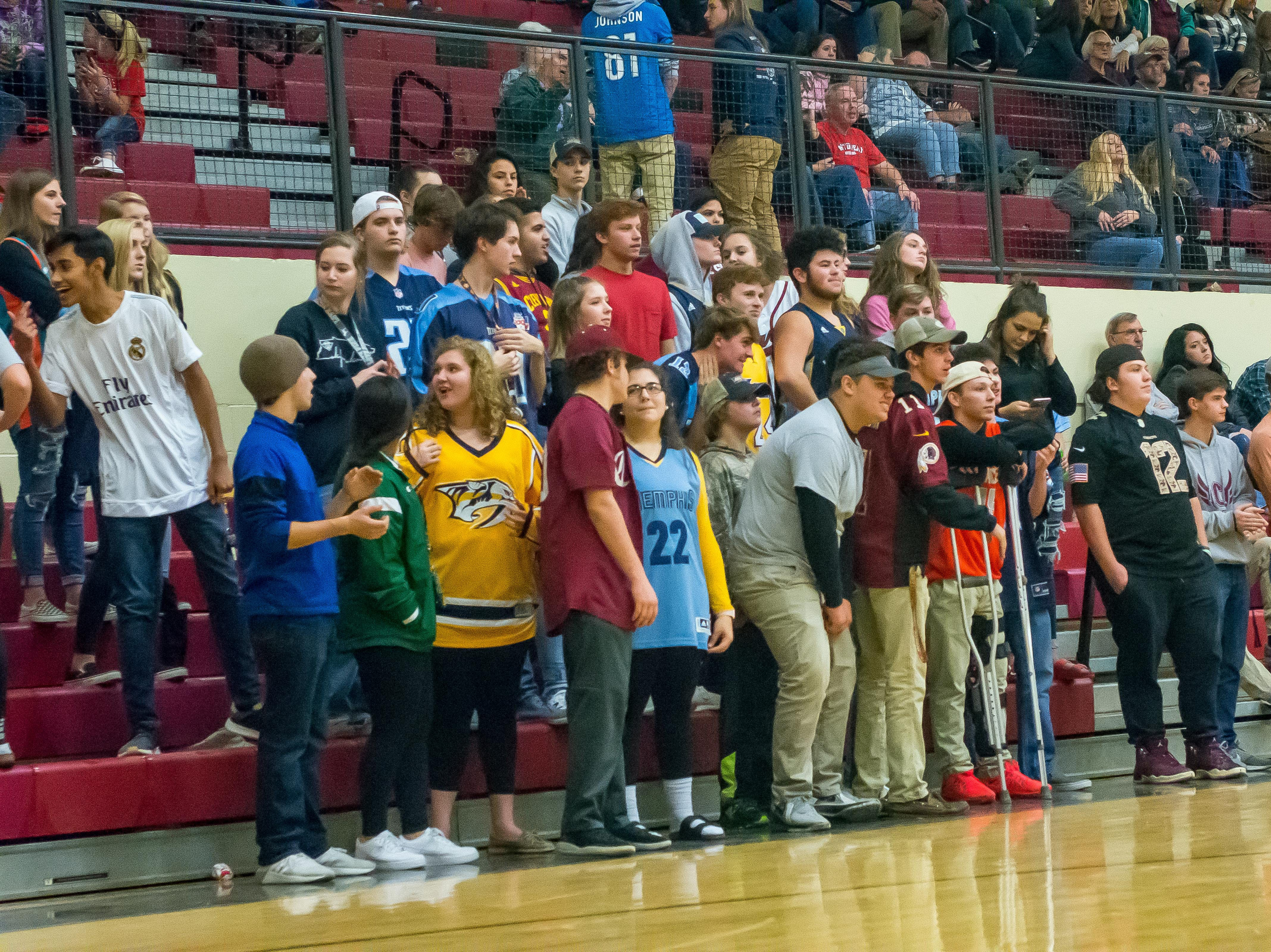 The Cheatham student section in early season form.