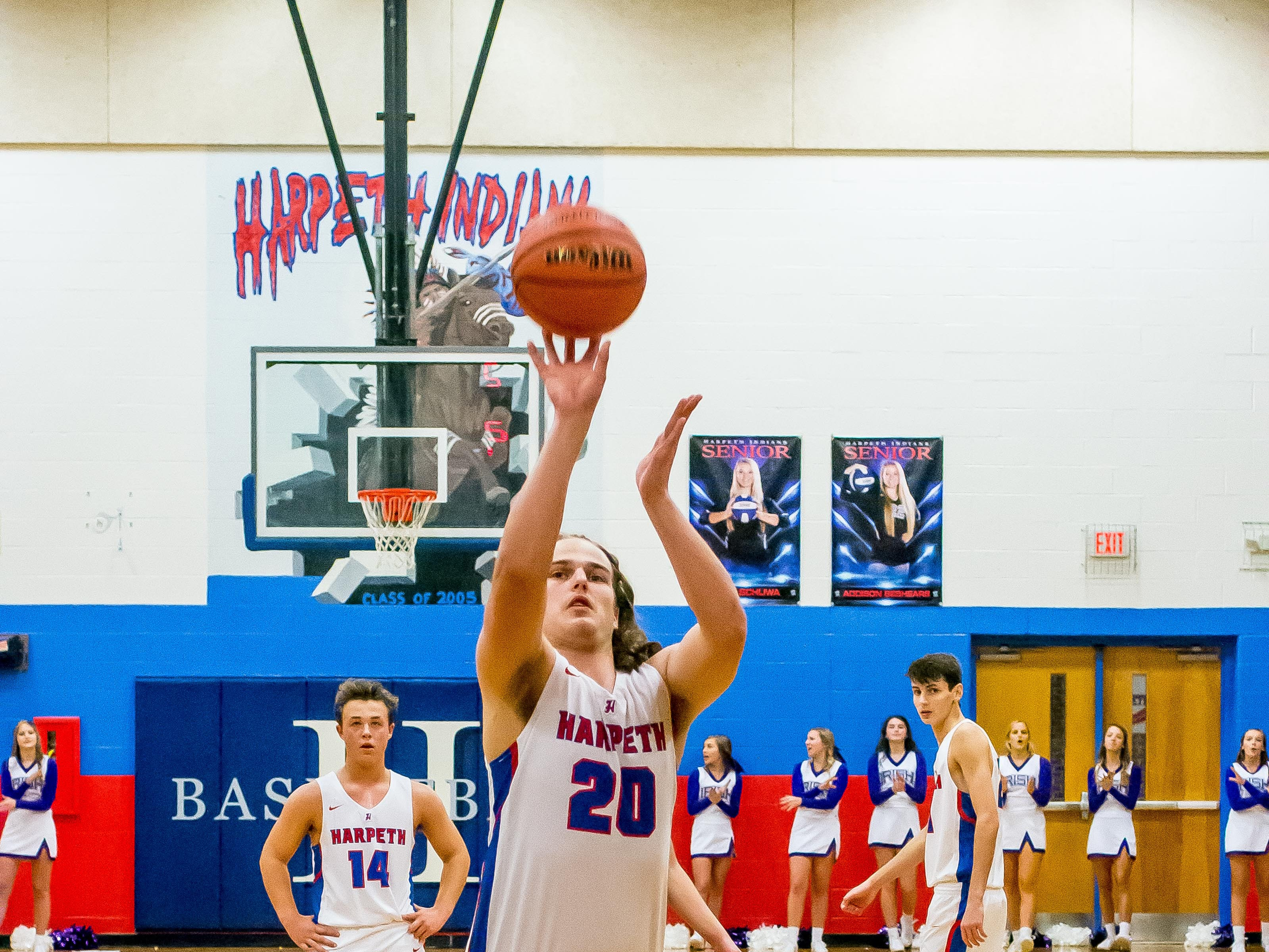 Harpeth senior Chase Taylor at the line for two.