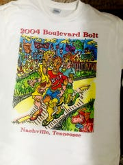 2004 Boulevard Bolt t-shirt designed by Myles Maillie.