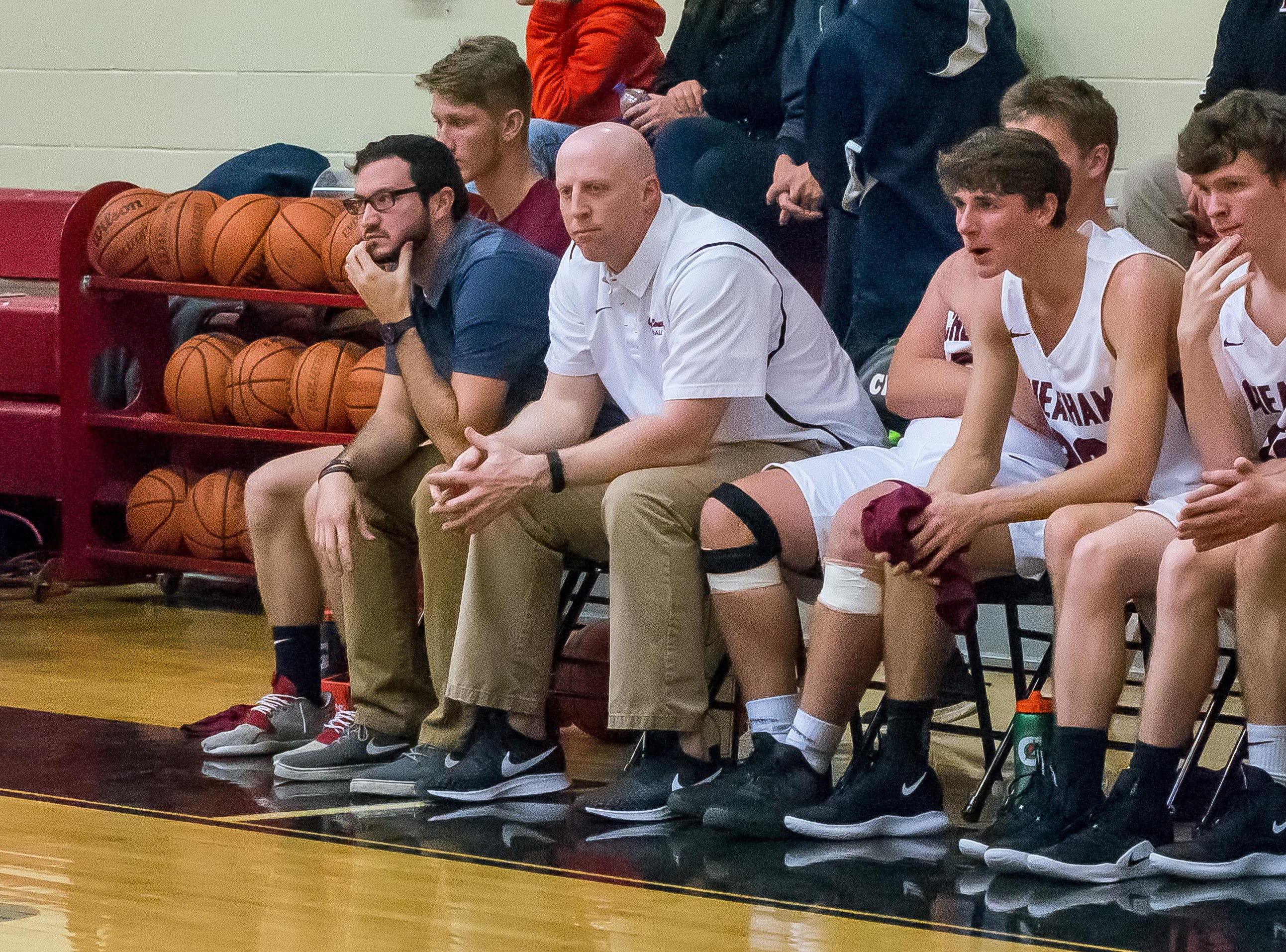 Cheatham County coach Josh Stuart looks on during the Cubs' game with Creek Wood.