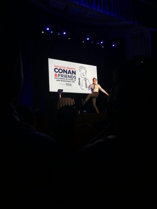 Conan O'Brien performs at War Memorial Auditorium in Nashville on Nov. 18, 2018.