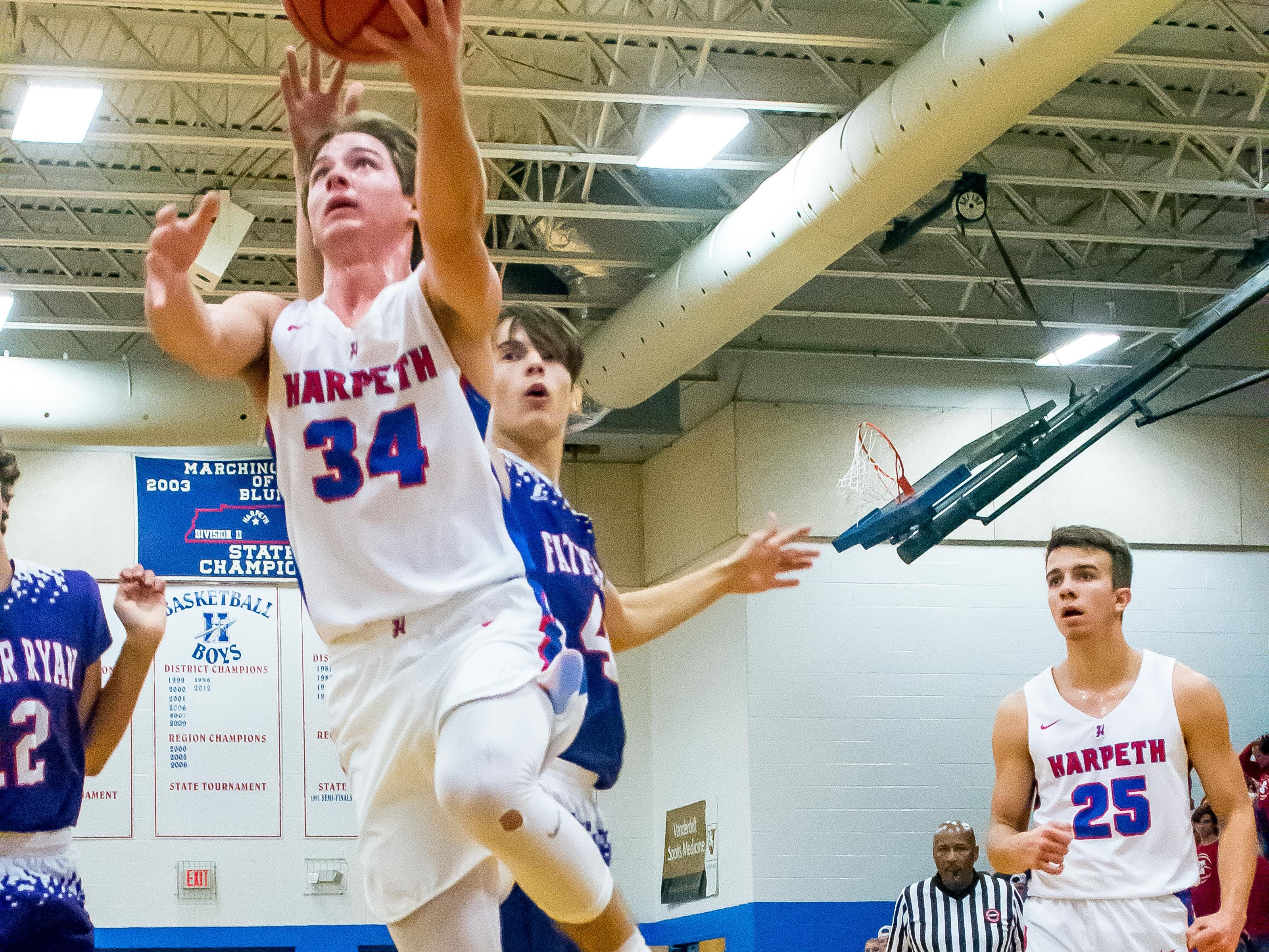 Harpeth's senior Luke Liles scored 12 points to lead the Indians against Father Ryan.