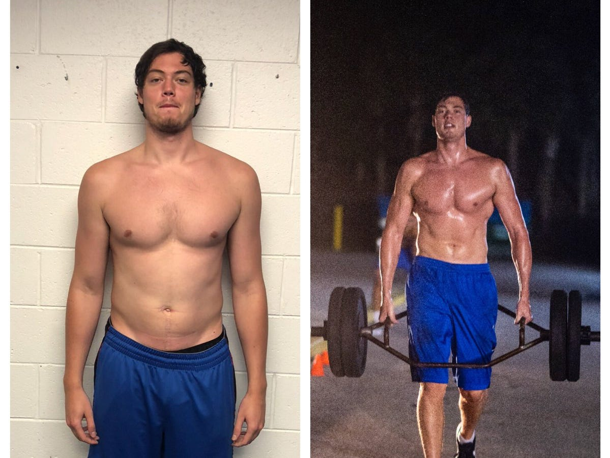 SR C Ricky Doyle before and after