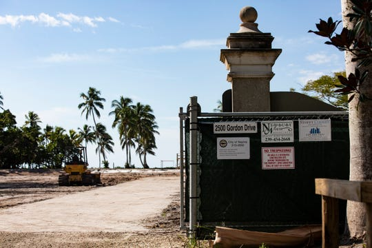 The bare lot where a 9,394-square-foot mansion in Port Royal was recently torn down, photographed Monday, Nov. 19, 2018, in Naples. Homes that previously sat on that plot of land had welcomed presidents and many other dignitaries over the past 81 years.