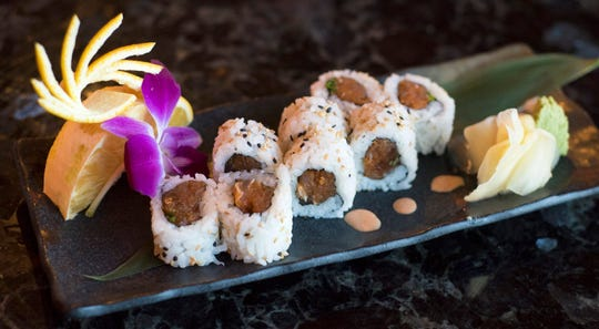 Sushi rolls, such as this spicy tuna roll, are half off 4 to 7 p.m. Wednesdays  at Zen Asian BBQ restaurant in North Naples.