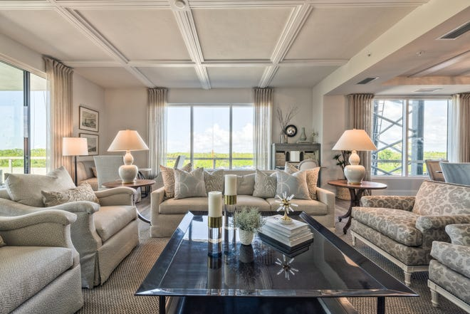 Three Seaglass floor plans are priced starting at $1.23 million. The tower residences offer 68-or 78-foot views of Estero Bay and the Gulf of Mexico.