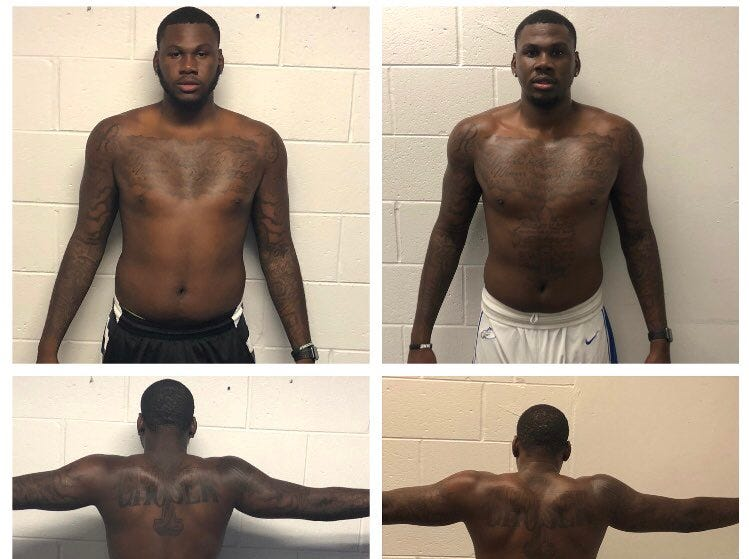 JR F RaySean Scott before and after