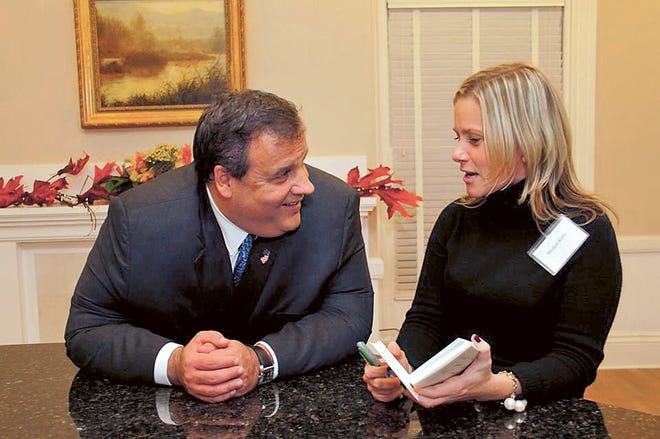 Bridget Anne Kelly with Governor Chris Christie