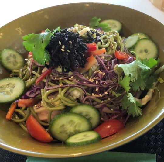 Green Tea Soba Noodle Salad at SoJo Spa Club