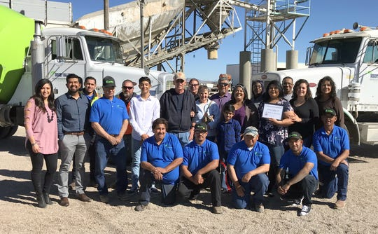 Employees and staff of Desert Valley Redi-Mix at 2605 Dona Ana Road, SE in Deming, NM.