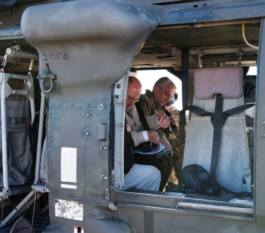 Gen. Paul Selva, vice chairman of the Joint Chiefs of Staff, boards a UH-60 Black Hawk helicopter November 14, 2018 on Holloman Air Force Base, N.M. Selva received a tour of White Sands Missile Range during his visit to Holloman Air Force Base Nov. 13 to 14.