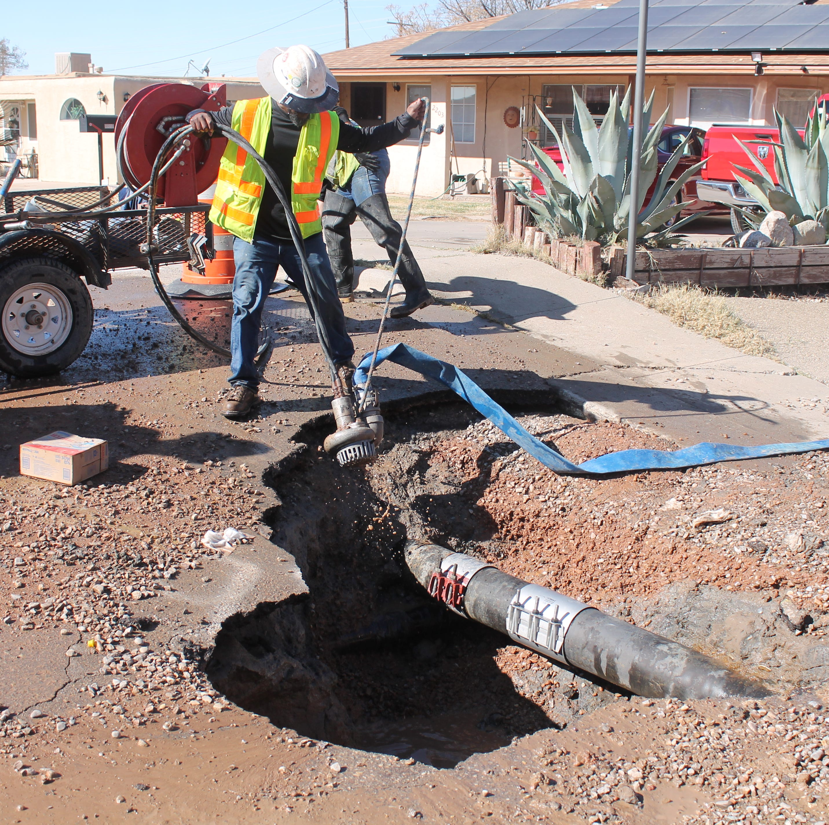 Temperature changes cause problems for water lines
