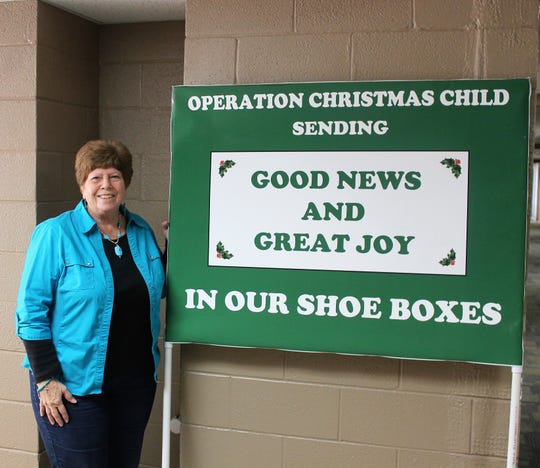 Grace United Methodist Coordinator Jan Richardson has coordinated Grace UMC's Operation Christmas Child effort for more than 20 years.