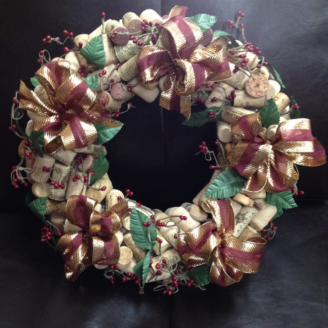 Wreatha are for sale at the annual Capitan Library Holiday Bazaar Dec. 1.