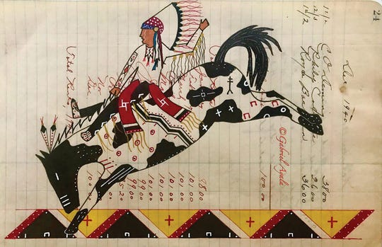 Just one of the many pieces of Ayala's Ledger art that are a part of his repertoire.