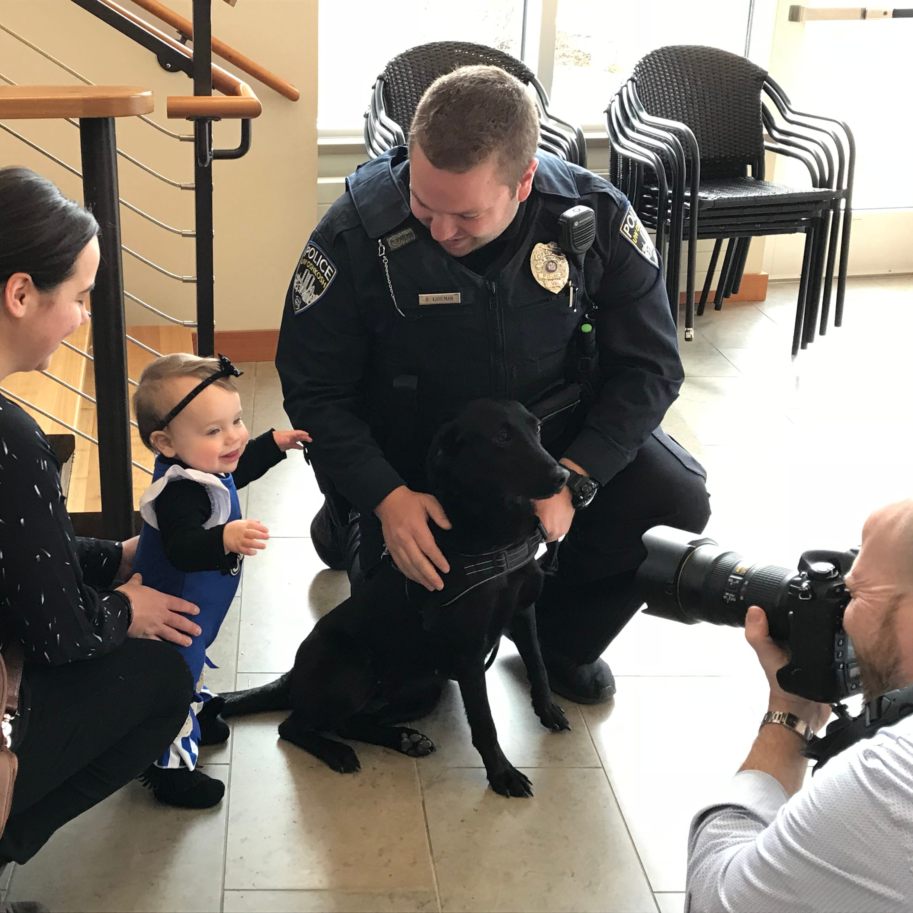 UW-Oshkosh Police get first dog: Skylar, a cuddly black lab with a nose for explosives