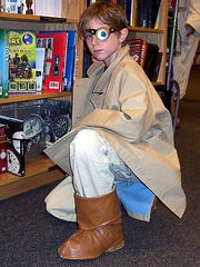 Eight-year-old Sawyer Bland as Mad Eye Moody from the Harry Potter series took second place in a costume contest.