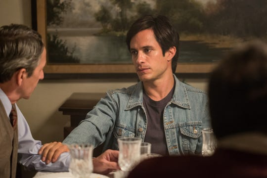 "Juan (Gael García Bernal) speaks with his father (Alfredo Castro) in ""Museo."""