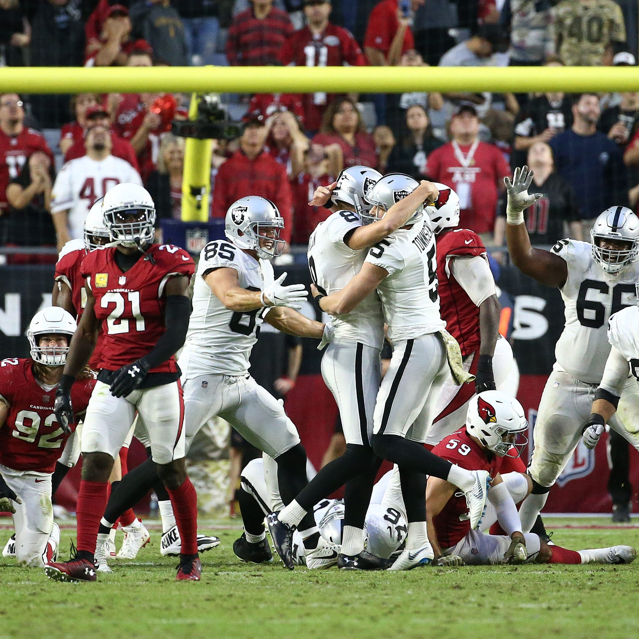 Jermaine Gresham's late penalty haunts Cardinals in last-second loss to Raiders