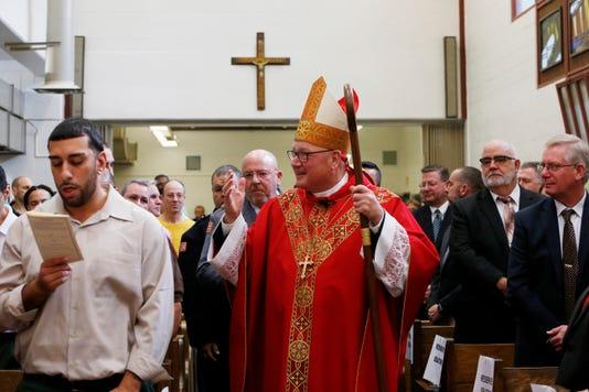 Cardinal Dolan At Shawangunk Correctional Facility