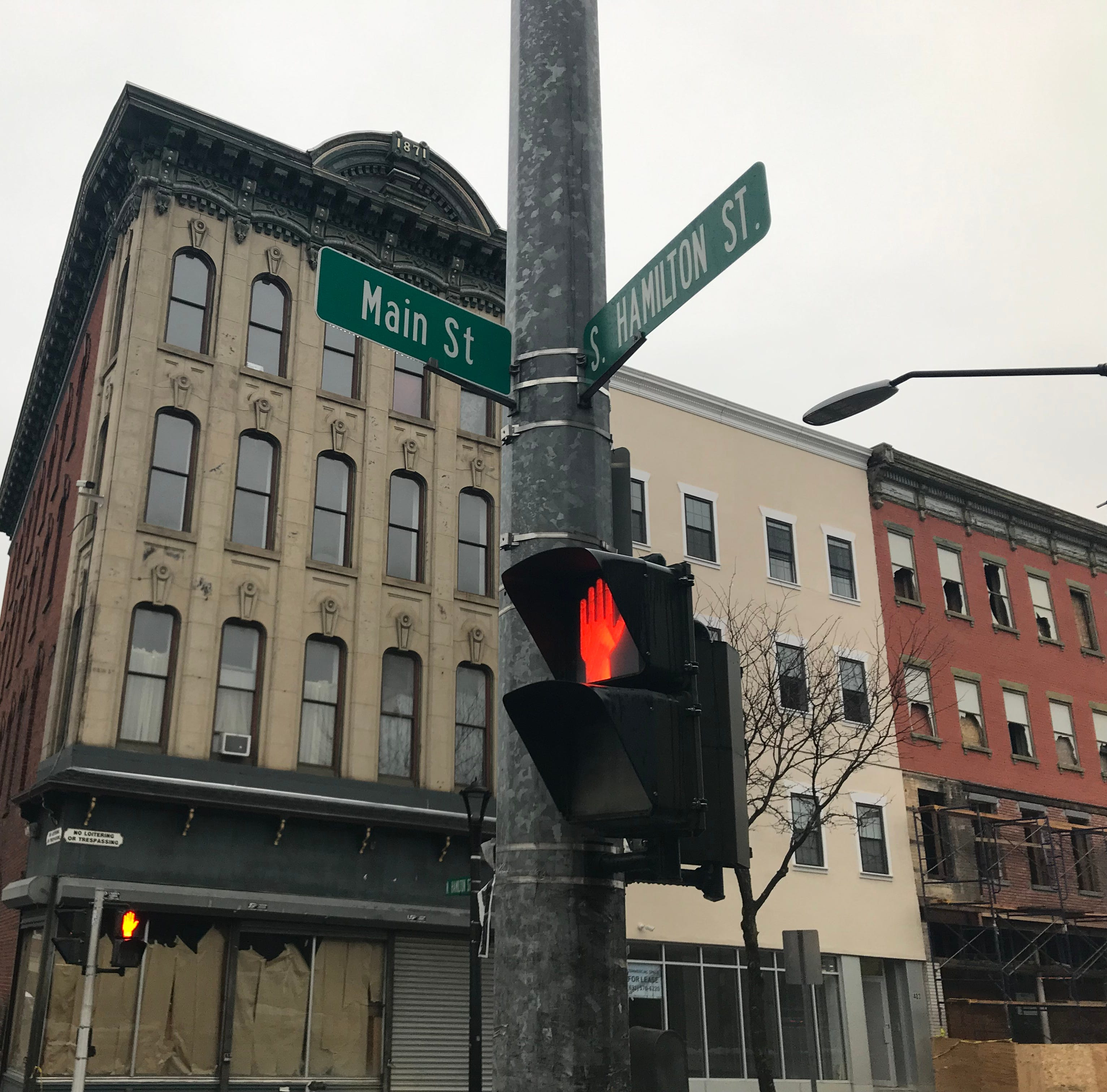 The 400 block of Main Street in the City of Poughkeepsie on Nov. 19, 2018.