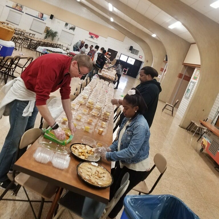 Members of 2017's York Plate Patrol cooked and delivered Thanksgiving meals to folks who otherwise wouldn't have had a holiday meal, York City School District Police Chief Mike Muldrow said.